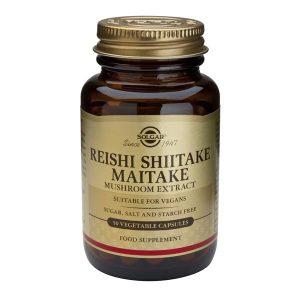 Reishi Shiitake Maitake Solgar Extract 50cps