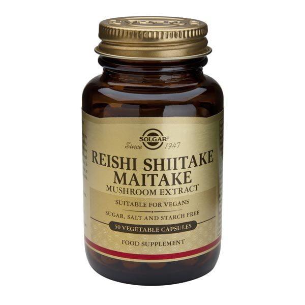 Reishi Shiitake Maitake Extract Solgar 50cps