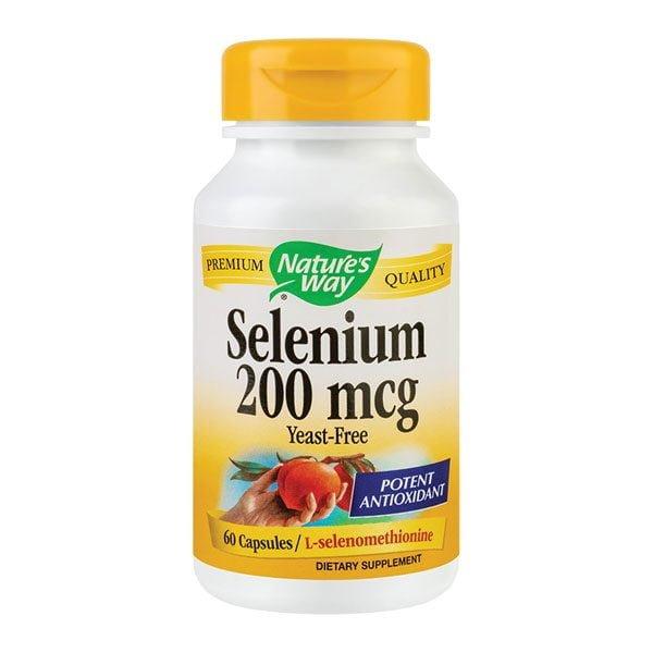 Selenium 200mcg 60cps NATURE'S WAY SECOM