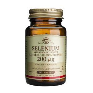 Seleniu Solgar 200 mg 50tb