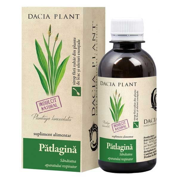 Sirop de Patlagina Fara Zahar 200ml DACIA PLANT