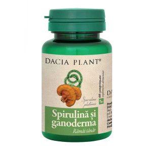 Spirulina si Ganoderma Dacia Plant 60cpr
