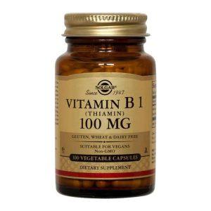 Vitamina B1 100mg (Tiamina) Solgar 100cps
