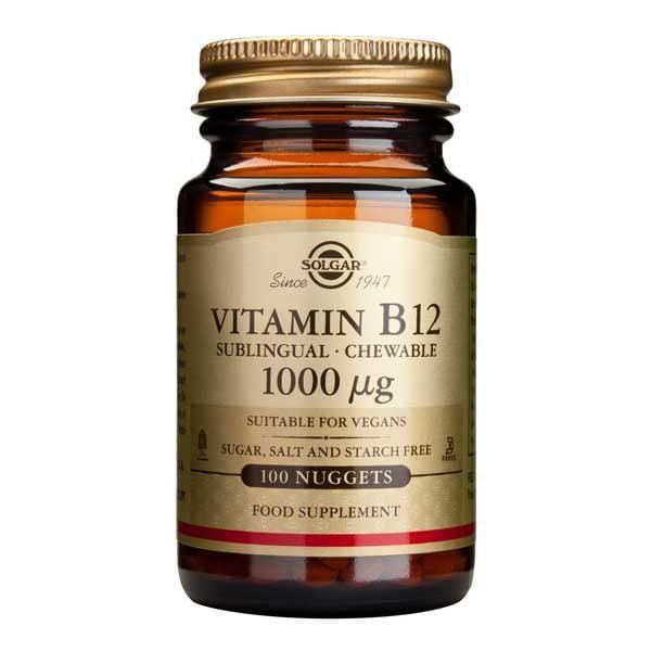 Vitamina B12 1000mcg 100tb (Cobalamina) SOLGAR