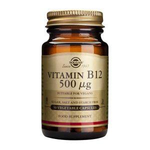 Vitamina B12 500mcg (Cobalamina) Solgar 50cps