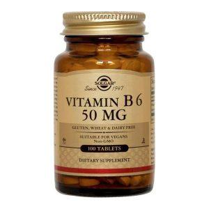 Vitamina B6 50mg Solgar 100tb