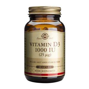 Vitamina D3 Solgar 1000 ui 100cps