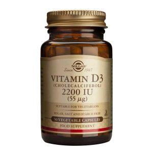 Vitamina D3 2200 ui Solgar 50cps