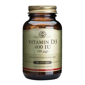 Vitamina D3 Solgar 400iu100cps