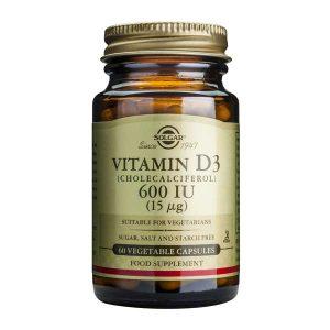 Vitamina D3 600 UI Solgar Colecalciferol 15 mcg 60cps