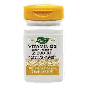 Vitamina D3 Secom 2000ui Nature's Way (Adulti) 30cps