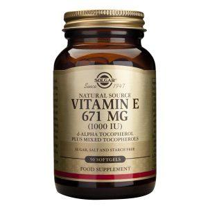Vitamina E Solgar 671mg 1000 UI 50cps