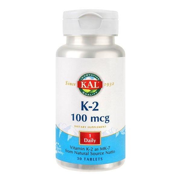 Vitamina K-2 100mcg 30tb KAL SECOM