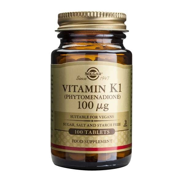 Vitamina K1 100mcg 100tb SOLGAR