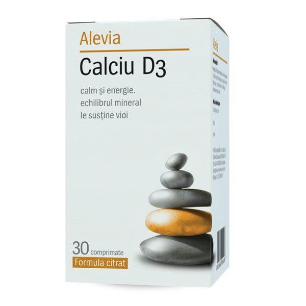 Calciu D3 30cpr Formula Citrat ALEVIA