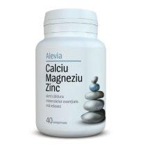 Calciu Magneziu Zinc Alevia 40cpr