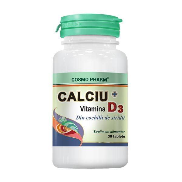 Calciu + Vitamina D3 30tb Cosmopharm