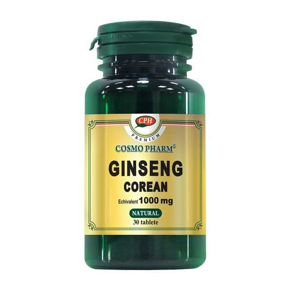Ginseng Corean 1000Mg Premium Cosmopharm 30tb