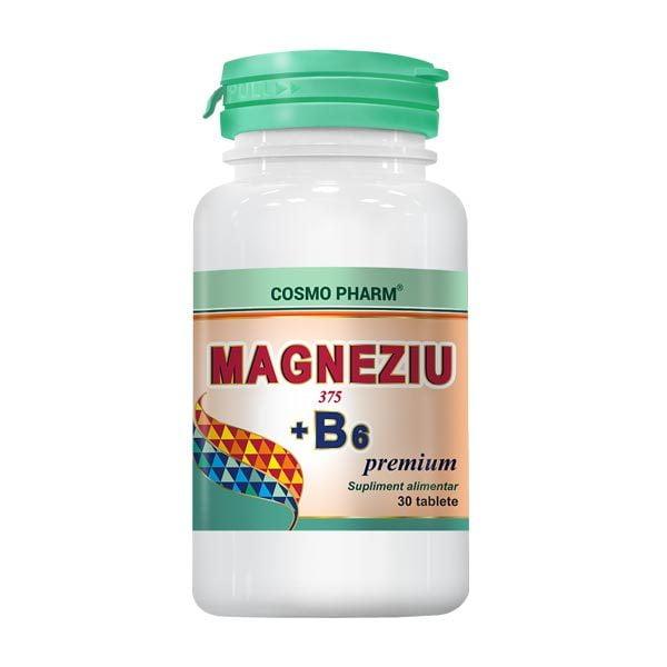 Magneziu 375 + B6 30tb Cosmopharm