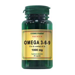 Omega 3*6*9 Ulei Seminte de In 1000Mg Premium Cosmopharm 30cps