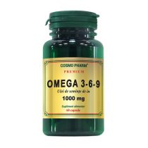 Omega 3*6*9 Ulei Seminte de In 1000Mg Premium Cosmopharm 60cps