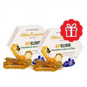 Apielixir Albina Carpatina 15fiole* 1 + 1 Gratuit 300ml