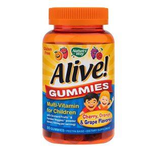 Alive Gummies MultiVitamin pentru Copii Secom Nature's Way 90 jeleuri
