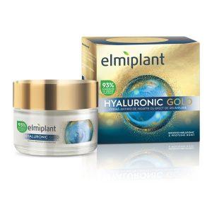 Hyaluronic Gold Crema de noapte antirid cu efect de umplere Elmiplant 50ml