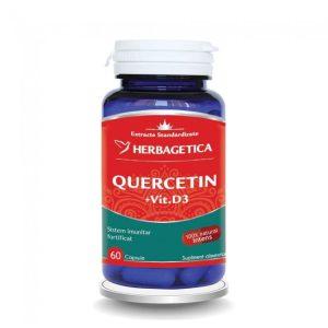 Quercetin + Vitamina D3 Herbagetica 60 cps