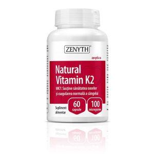 Vitamina K2 naturala Zenith 100mcg 60cps