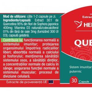 Quercetin + Vitamina D3 Herbagetica 30cps