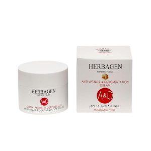 Crema Antirid si Depigmentare cu Extract de Melc Herbagen 50ml