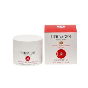 Crema Lifting Luminozitate cu Extract Melc Herbagen 50ml