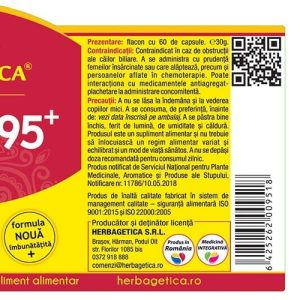 Curcumin 95 C3 Complex Herbagetica 60cps+10cps