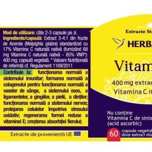 Vitamina C Forte Herbagetica 60cps