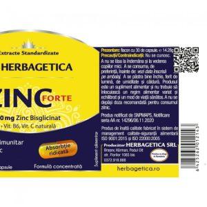 Zinc Forte Herbagetica 30cps